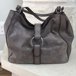 Michael kors suede with leather accents hobo